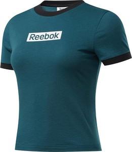 Zielona bluzka Reebok w sportowym stylu