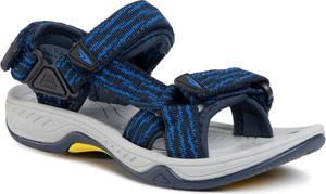 Granatowe buty dziecięce letnie eobuwie.pl na rzepy