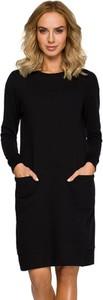 Czarna sukienka Made Of Emotion mini w stylu casual z okrągłym dekoltem
