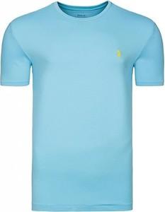 Niebieski t-shirt Ralph Lauren w stylu casual z krótkim rękawem