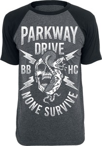 T-shirt Parkway Drive z krótkim rękawem w młodzieżowym stylu z bawełny