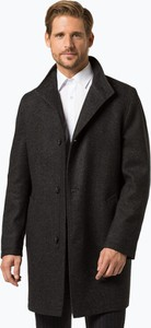Czarny płaszcz męski Bugatti