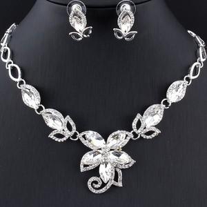 IZMAEL.eu Zestaw Splendor Flower - Srebrny/Kryształ