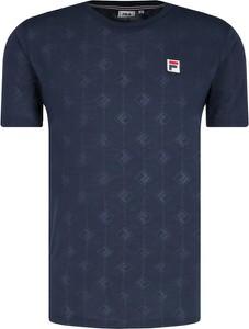 Niebieski t-shirt Fila z krótkim rękawem w sportowym stylu