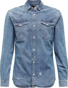Koszula Jack & Jones z jeansu z klasycznym kołnierzykiem