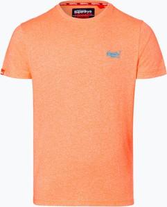 Pomarańczowy t-shirt Superdry w stylu casual z krótkim rękawem