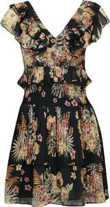 Sukienka Liu-Jo z krótkim rękawem w stylu boho z dekoltem w kształcie litery v