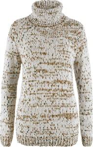 Szary sweter bonprix bpc bonprix collection w abstrakcyjne wzory z wełny