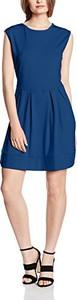 Niebieska sukienka Solo Capri w stylu casual z okrągłym dekoltem bez rękawów