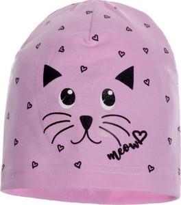 Różowa czapka Ambra