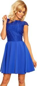 Sukienka NUMOCO rozkloszowana mini z okrągłym dekoltem