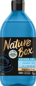 Nature Box, Coconut Oil, żel pod prysznic, nawilżający, 385 ml