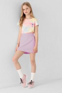 Różowa spódniczka dziewczęca 4F z bawełny