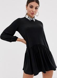 Czarna sukienka Asos Design koszulowa