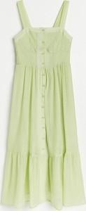 Sukienka Reserved maxi w stylu casual na ramiączkach