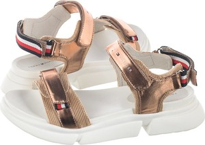 Złote sandały Tommy Hilfiger