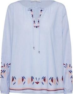 Bluzka edc by Esprit z długim rękawem z bawełny