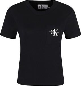 Czarny t-shirt Calvin Klein