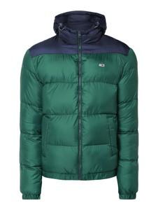 Zielona kurtka Tommy Jeans w street stylu z jeansu