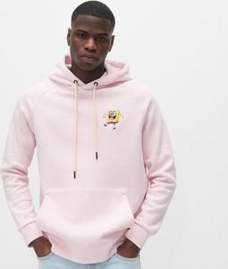 Różowa bluza Reserved z bawełny z nadrukiem