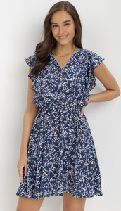 Sukienka born2be z krótkim rękawem mini w stylu casual