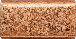 Pomarańczowy portfel Nicole ze skóry