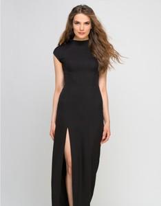 Czarna sukienka Lanti z krótkim rękawem