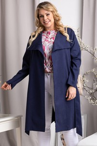 Płaszcz KARKO w stylu casual z zamszu