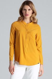 Żółta bluzka Figl z długim rękawem