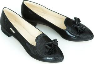 Czarne baleriny Zapato w stylu glamour