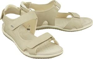 Sandały Geox z płaską podeszwą ze skóry w sportowym stylu