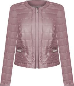 Różowa kurtka POLSKA z tkaniny krótka