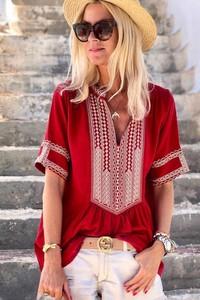 Czerwona bluzka IVET