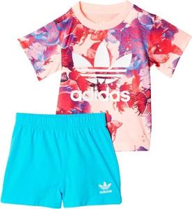 Komplet dziecięcy Adidas w kwiatki dla dziewczynek