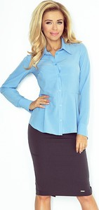 Niebieska koszula Numoco Saf z kołnierzykiem