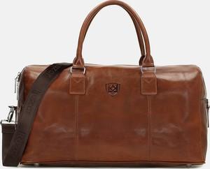Brązowa torba podróżna Kazar ze skóry