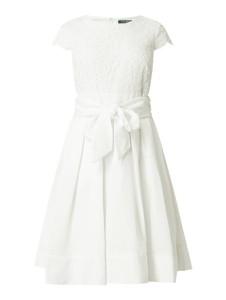 Sukienka Ralph Lauren z krótkim rękawem rozkloszowana midi