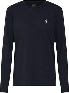 Czarna bluzka POLO RALPH LAUREN w stylu casual z tkaniny