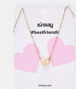 Sinsay - Naszyjniki dla przyjaciółek 2 pack - Złoty