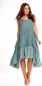 Sukienka Di Piu asymetryczna bez rękawów w stylu casual