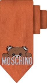 Pomarańczowy krawat Moschino