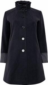 Granatowy płaszcz Sheego z tkaniny