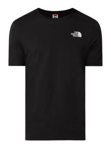 Czarny t-shirt The North Face z bawełny z nadrukiem