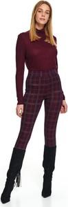 Czerwone legginsy Top Secret w stylu casual