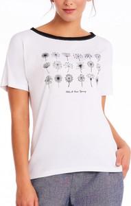 T-shirt POTIS & VERSO z okrągłym dekoltem z dzianiny w młodzieżowym stylu
