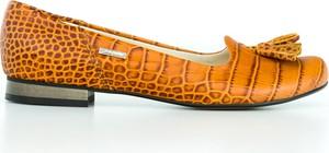 Baleriny Zapato w stylu boho z zamszu