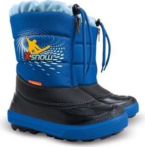 Buty dziecięce zimowe Demar sznurowane dla chłopców z dzianiny