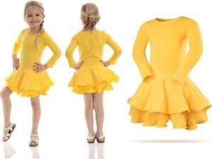 Żółta sukienka dziewczęca Rennwear z bawełny