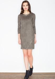 Sukienka sukienki.pl z zamszu