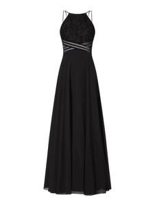 Czarna sukienka Jake*s Cocktail z dekoltem halter maxi